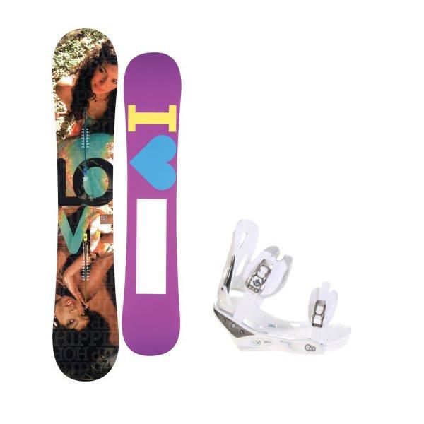 Burton Love Snowboard W / Burton C60 Bindings White U.S.A. & Canada