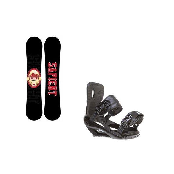 Sapient Wisdom Snowboard W / Sapient Wisdom Bindings Black U.S.A. & Canada