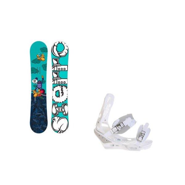 Sierra Stunt Wide Snowboard W / Burton Triad Bindings White U.S.A. & Canada
