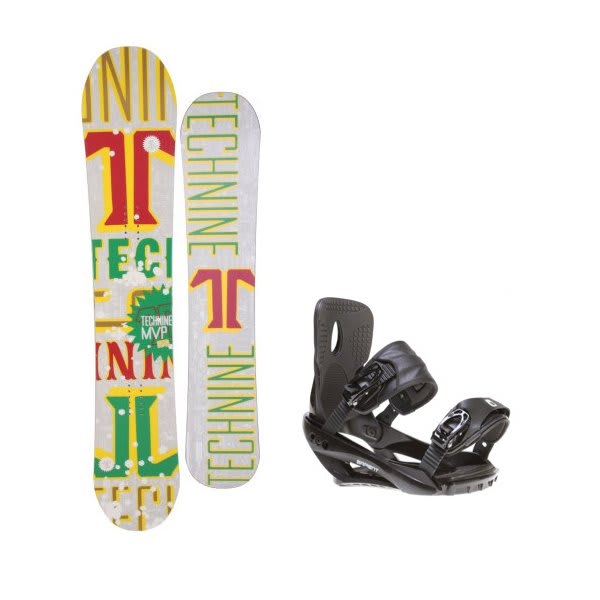 Technine Mvp Series Snowboard W / Sapient Wisdom Bindings Black U.S.A. & Canada