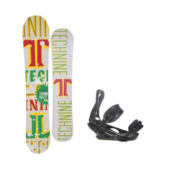 Technine Mvp Series Snowboard W / Burton P1 1 Bindings Black U.S.A. & Canada