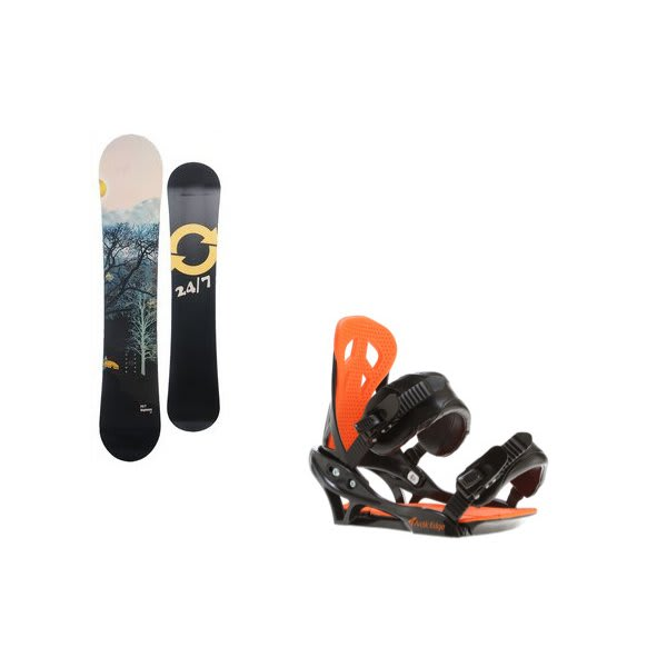 Twenty Four / Seven Highway Snowboard W / Arctic Edge Team Bindings Black U.S.A. & Canada