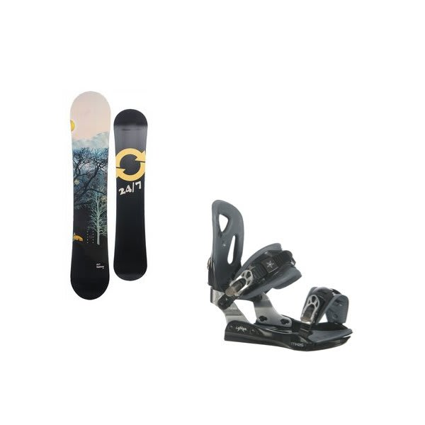 Twenty Four / Seven Highway Snowboard W / Lamar Mx25 Bindings U.S.A. & Canada