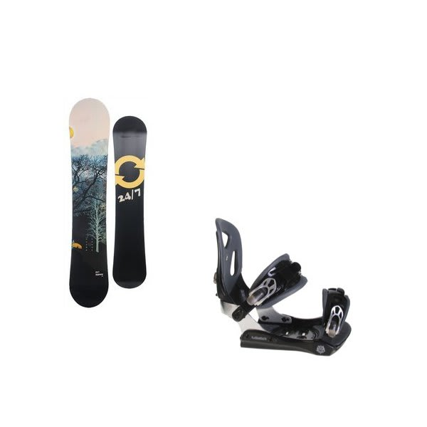 Twenty Four / Seven Highway Snowboard W / Lamar Mx30 Bindings Black U.S.A. & Canada