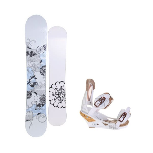 Santa Cruz Muse Snowboard W / Burton Escapade Bindings Natural White U.S.A. & Canada