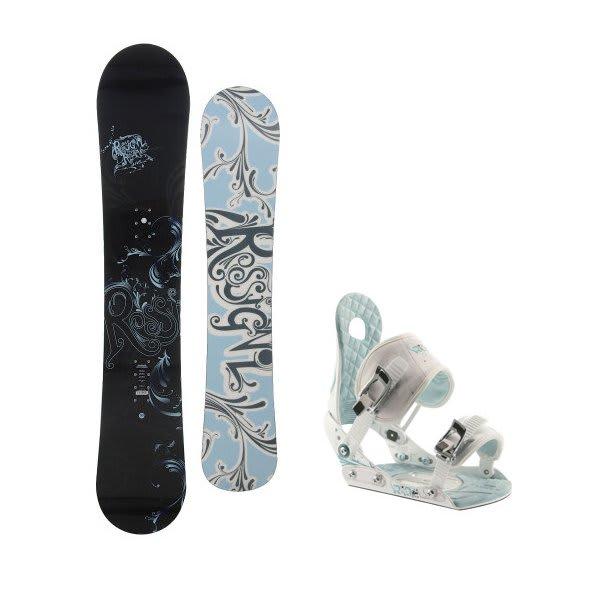 Rossignol Reserve Snowboard W / Ride Lxh Bindings White / Blue U.S.A. & Canada