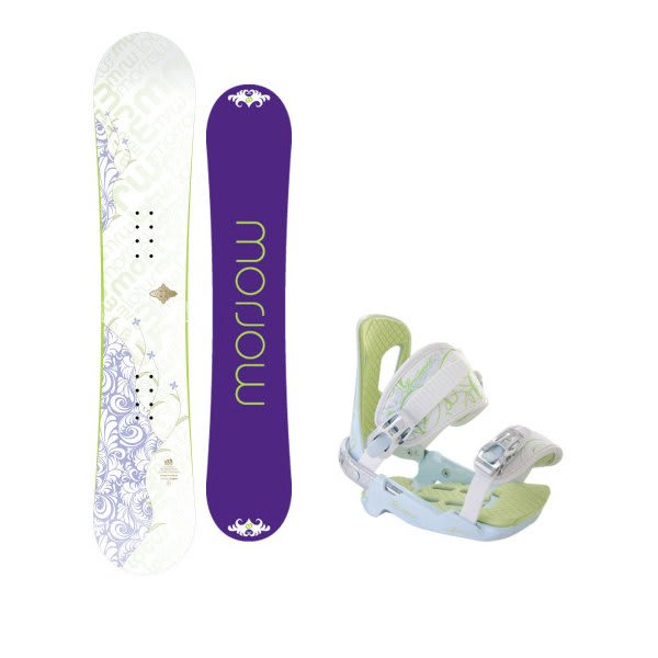 Morrow Lotus Snowboard W / Rossignol Zena Bindings White / Light Blue U.S.A. & Canada