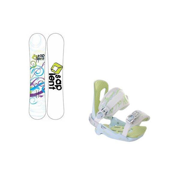 Sapient Spiral Snowboard W / Rossignol Zena Bindings White / Light Blue U.S.A. & Canada