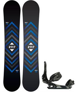 2117 Berg Snowboard w/ Rome United Bindings