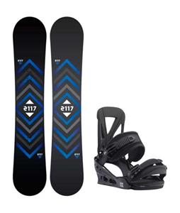 2117 of Sweden Berg Snowboard w/ Burton Custom Re:Flex Bindings