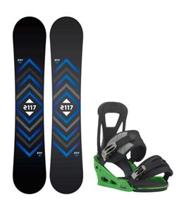 2117 of Sweden Berg Snowboard w/ Burton Freestyle Re:Flex Bindings