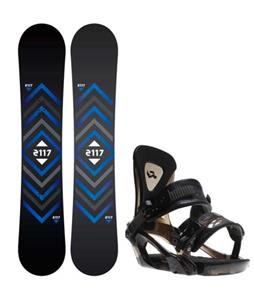 2117 of Sweden Berg Snowboard w/ Ride KX Bindings