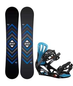 2117 of Sweden Berg Snowboard w/ Rossignol Battle V2 Bindings