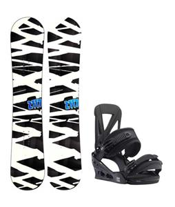 2117 of Sweden Hintertux Wide Snowboard w/ Burton Custom Re:Flex Bindings