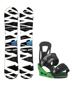 2117 of Sweden Hintertux Wide Snowboard w/ Burton Freestyle Re:Flex Bindings