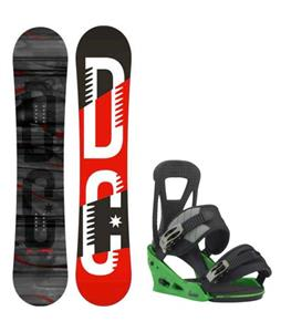 DC Focus Camber Snowboard w/ Burton Freestyle Re:Flex Bindings