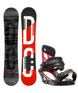DC Focus Camber Snowboard w/ K2 Hurrithane Bindings