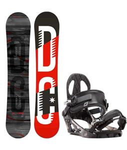 DC Focus Camber Snowboard w/ K2 Sonic Bindings