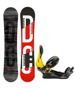 DC Focus Camber Snowboard w/ Rome Arsenal Bindings