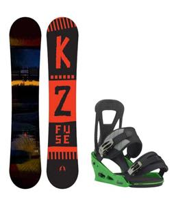 K2 Fuse Snowboard w/ Burton Freestyle Re:Flex Bindings