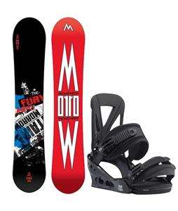 Morrow Fury Wide Snowboard w/ Burton Custom Re:Flex Bindings