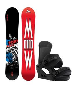 Morrow Fury Wide Snowboard w/ Burton Custom Bindings