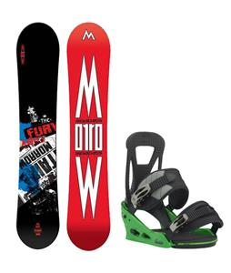 Morrow Fury Wide Snowboard w/ Burton Freestyle Re:Flex Bindings