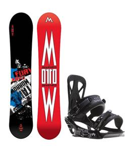 Morrow Fury Wide Snowboard w/ Rome United Bindings