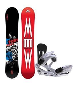 Morrow Fury Wide Snowboard w/ Sapient Stash Bindings