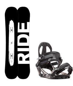 Ride Burnout Wide Snowboard w/ K2 Sonic Bindings