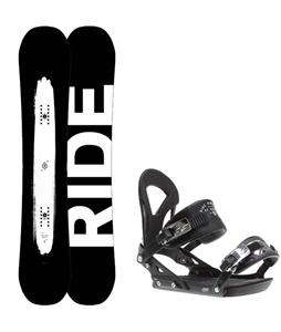 Ride Burnout Wide Snowboard w/ Ride EX Bindings