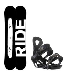 Ride Burnout Wide Snowboard w/ Ride LX Bindings
