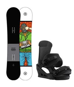 Ride Crook Snowboard w/ Burton Custom Re:Flex Bindings