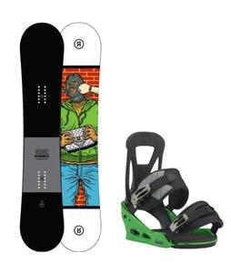 Ride Crook Snowboard w/ Burton Freestyle Re:Flex Bindings