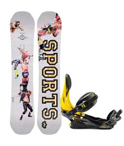 Rome Artifact Rocker Midwide Snowboard w/ Rome Arsenal Bindings