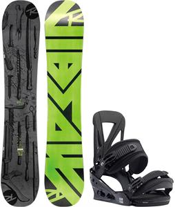 Rossignol Jibsaw Magtek Wide Snowboard w/ Burton Custom Re:Flex Bindings