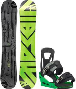Rossignol Jibsaw Magtek Wide Snowboard w/ Burton Freestyle Re:Flex Bindings