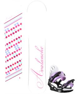 Avalanche Finesse Snowboard w/ M3 Equinox 4 Bindings