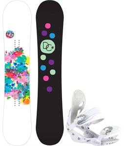 DC Biddy Camber Snowboard w/ Avalanche Serenity Bindings