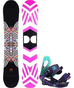 DC Ply Snowboard w/ Rossignol Justice Bindings
