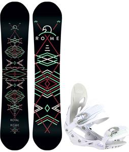 Rome Royal Snowboard w/ Avalanche Serenity Bindings