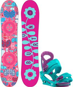 Burton Chicklet Snowboard w/ Burton Scribe Smalls Bindings
