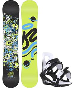 K2 Mini Turbo Snowboard w/ Chamonix Savoy Bindings