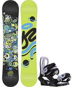 K2 Mini Turbo Snowboard w/ Sapient Zeus Jr Bindings