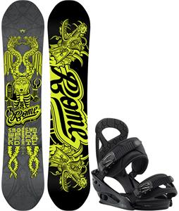 Rome Label Snowboard w/ Burton Mission Smalls Bindings