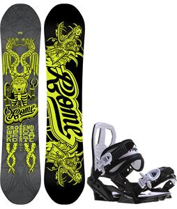 Rome Label Snowboard w/ Sapient Zeus Jr Bindings