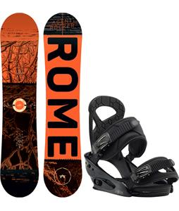 Rome Mini Agent Rocker Snowboard w/ Burton Mission Smalls Bindings