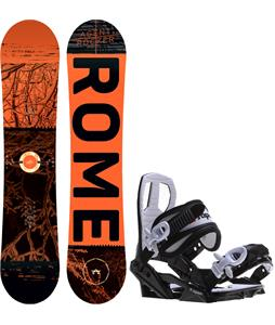 Rome Mini Agent Rocker Snowboard w/ Sapient Zeus Jr Bindings