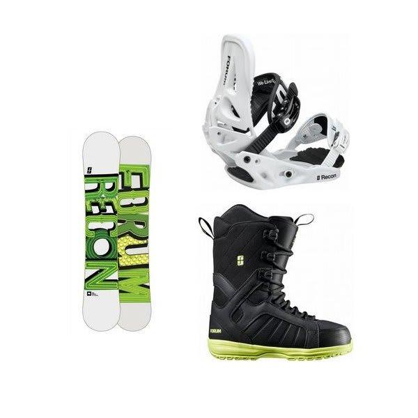 Forum Recon Wide Snowboard W / Forum Fastplant Snowboard Boots & Forum Recon Snowboard Bindings U.S.A. & Canada