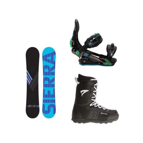 Sierra Reverse Crew Snowboard W / Arctic Edge Snowboard Boots & Rome S90 Snowboard Bindings U.S.A. & Canada